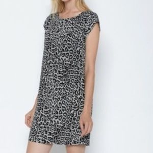 Joie silk leopard print shift dress
